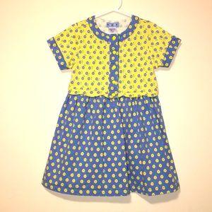 Girls Vintage GYMBOREE floral snap Dress sz XL